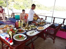 awesome bbq laid out on the boat...nom nom!