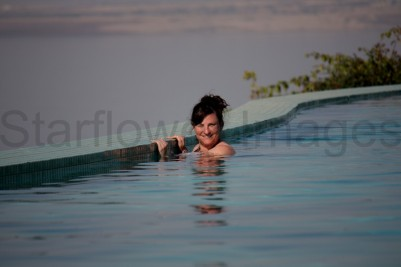 me having a swim...in the subzero pool near the Dead Sea