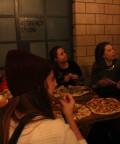 yum yum...pizzas never eaten faster