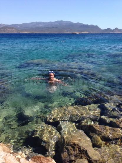 Meiz island swimming in a unpopulated little beach