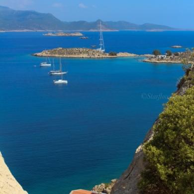 Meiz Island view towards Turkey